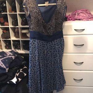 Side zip silk dress 100% silk